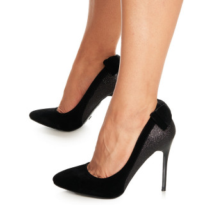 Pantofi stiletto cu toc inalt din velur Adisson