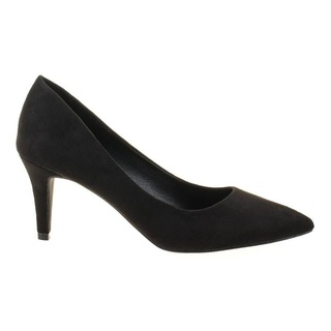 Pantofi stiletto din velur cu toc mediu Tina