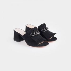 Papuci Dama, elegante, ESTRELLA, Negru