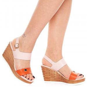 Sandale Casual cu Platforma Sherine Arancia