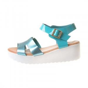 Sandale cu platforma Laila blu