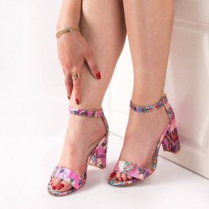 Sandale cu toc gros chic Anouka