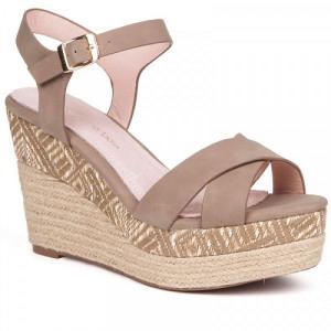 Sandale dama, ABBY, Taupe