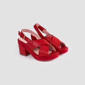 Sandale dama, CLARISA, Rosu