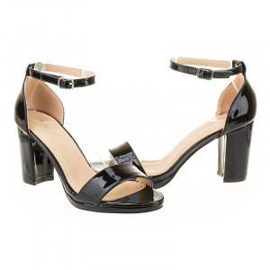 Sandale de ocazie metalic Mira blk