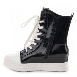 Sneakers inalti metalic Salma nero