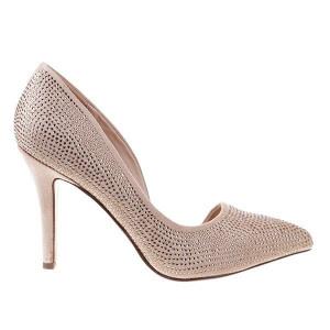 Pantofi stiletto bej Sandra