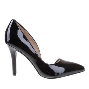 Pantofi stiletto negru Idola