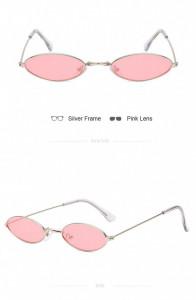 Ochelari de soare retro vintage Antonia auriu cu roz