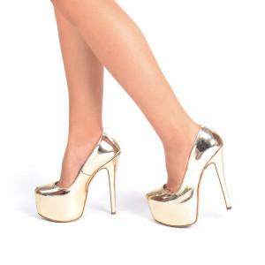 Pantofi cu platforma auriu Salma