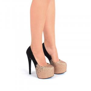 Pantofi cu platforma bronze Adria