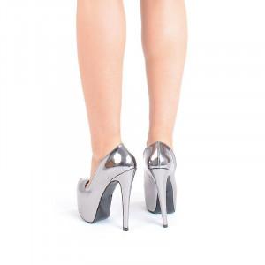 Pantofi cu platforma metalic Bianca