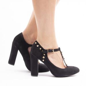 Pantofi cu toc gros din velur Agostina