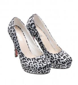 Pantofi de dama black leopard Crista