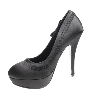 Pantofi de dama black satin Dinner in Town
