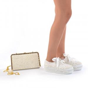 Pantofi de mireasa cu poseta inclusa Angelina
