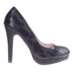 Pantofi Leila black camo