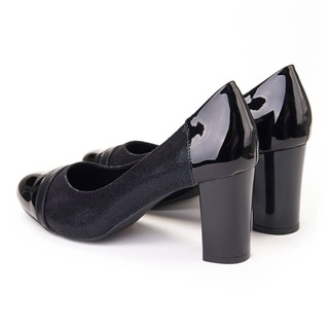 Pantofi office chic cu toc gros Lia
