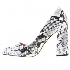 Pantofi office cu toc gros snake Salma