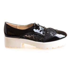 Pantofi sport cu siret Celia blk