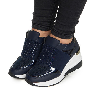 Pantofi sport cu talpa inalta Camilia albastru