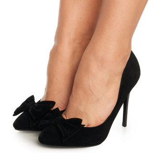 Pantofi stiletto cu toc inalt si fundita Antoinette