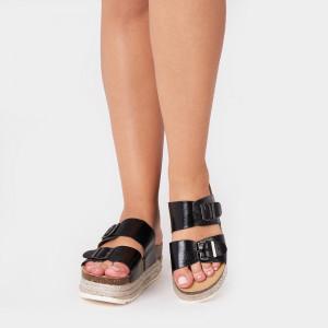 Papuci dama, FLORA, Negru