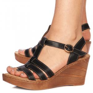 Sandale cu platforma Rosella blk