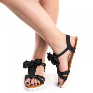 Sandale cu talpa joasa Eva blk