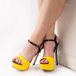 Sandale cu toc inalt si platforma Carlita