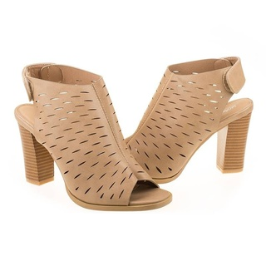 Sandale cu toc la moda Rosalia bej
