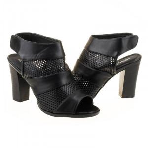 Sandale cu toc la moda Teresa blk