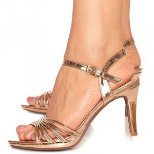 Sandale cu toc mediu Lolita bronze