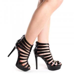 Sandale cu toc si platforma Romance