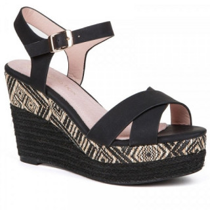 Sandale dama, ABBY, Negru