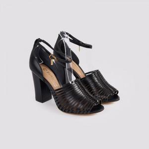 Sandale dama, CLAUDIA, Negru