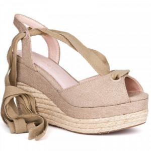 Sandale dama, COCO, Beige