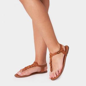 Sandale Dama, RONA, Camel