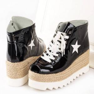 Sneakers cu siret si talpa inalta Antonia