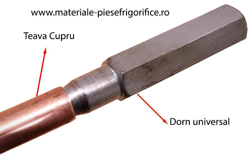Exemplu Utilizare Dorn Universal pentru Largirea Tevilor de Cupru