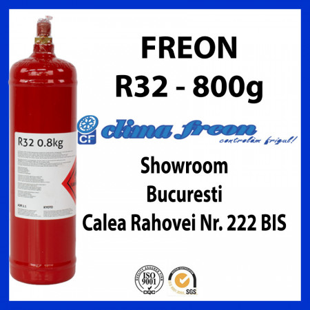 Freon R32, 0.8 KG, Butelie Reincarcabila, ENTALPIA Europe