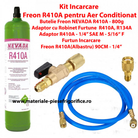 Kit Complet Incarcare Freon(R410A) pentru aparatele de Aer Conditionat