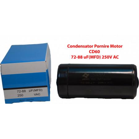 Condensator Pornire Motor, CD60, 72-88uF(MFD) ,250V AC