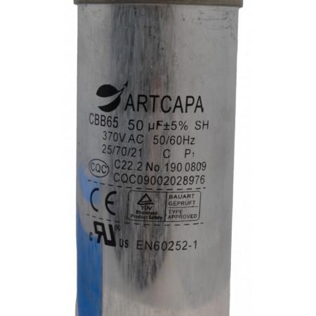Condensator Pornire Motor, CBB65, 50uF(MFD) - 370 VAC