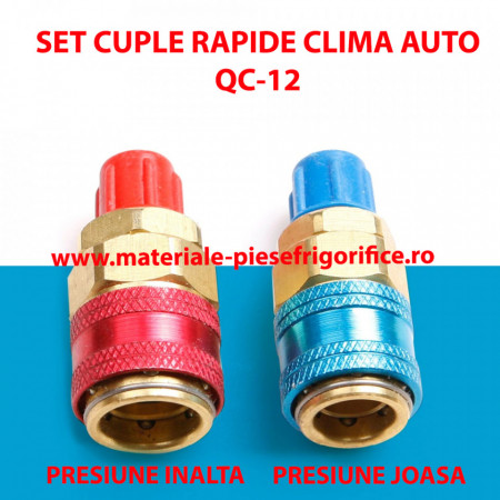 Set cuple rapide clima auto QC-12 - Freon R134a