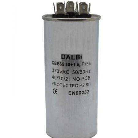 Condensator Pornire Motor, CBB65, 50+1.5uF(MFD) ,370 VAC. Condensatori pornire motor pentru aer conditionat. Aer conditionat reparatii condensator.