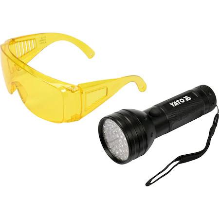 Poze Kit lanterna led UV+OCHELARI YT-08581