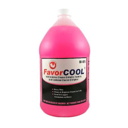 Solutie curatare instalatii aer conditionat, metal, cupru, alama non-acida Favorcool SB-920 3.8L Roz
