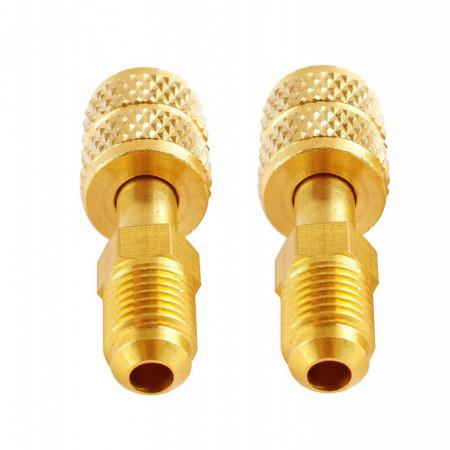 """Adaptor R410a - 1/4 """"SAE M la 5/16"""" F - pentru aparatele de aer conditionat mini-split si cuple rapide"""