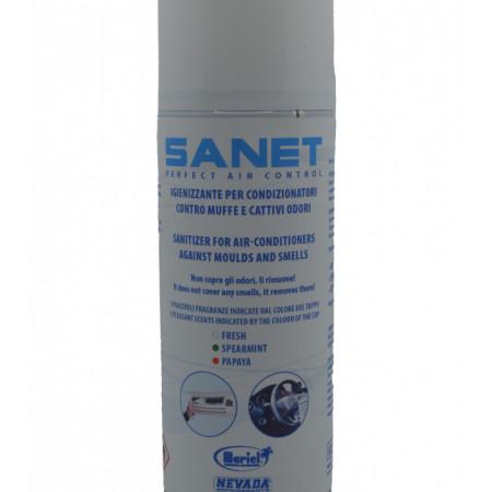 Spray dezinfectant si curatare aparate aer conditionat Sanet 150ml cu aroma de Menta